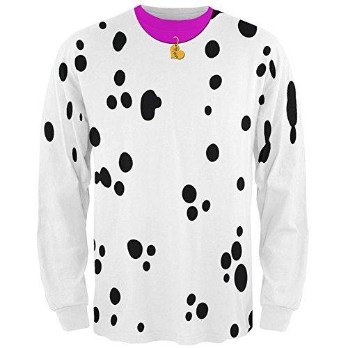 Valentinstag Hund Dalmatiner Kostüm rosa Kragen Werden Meine Mens Long Sleeve T Shirt Multi X-LG