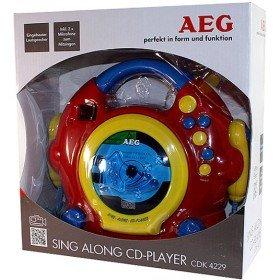AEG CDK 4229 Kids Line Kinder CD-Player CD Inkl. Karaoke-Funktion, Inkl. Mikrofon Rot, Bunt