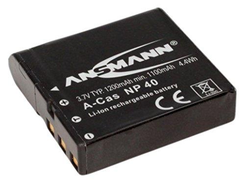 Casio-digital-kamera-akku (ANSMANN 5022303/05 A-Cas NP 40 Li-Ion Digicam Akku 3,7V/1200mAh für Casio Foto Digitalkamera)