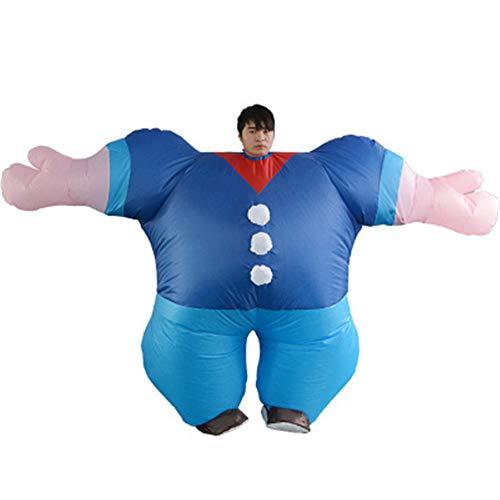 CCHM Seemann Gewichtheben Fitness Muskel Aufblasbare Kostüm Kleidung Halloween Kostüm für Männer - Muskel Mann Kostüm Für Erwachsene