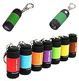 Huonje Mini Keychain Pocket Torch USB Rechargeable LED Light (Multicolour, 0.3W)