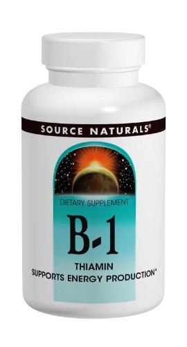 B1 (Thiamine) - High Potency (500mg) - 100 Tabs - Source Naturals