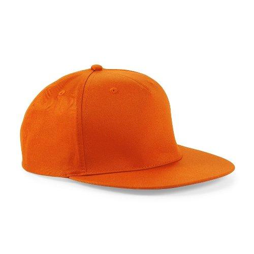 Snapback Hip Hop Rapper Cap, Farbe:Orange;Größe:One Size one size,Orange