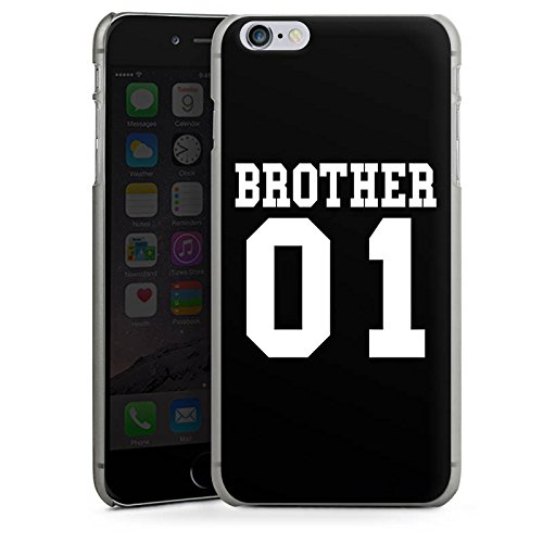Apple iPhone X Silikon Hülle Case Schutzhülle Brother Bruder Bro Hard Case anthrazit-klar