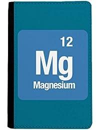 beatChong MG De Magnesio Monedero Elemento Químico Pasaporte Chem Viajes Portatarjetas De La Caja Cubierta De