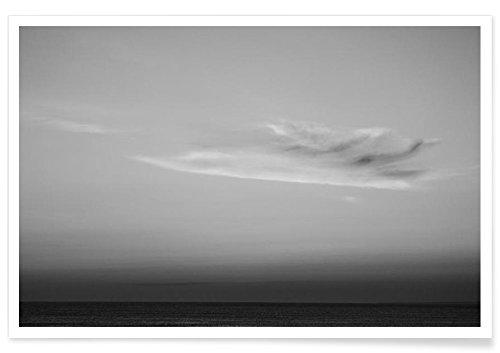 JUNIQE® Poster 20x30cm Schwarz & Weiß Ozeane, Meere & Seen - Design