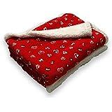 Soleil d'Ocre 512116 Cœur Plaid Polaire Imprimé Sharpa Polyester Rouge 160 x 120 cm