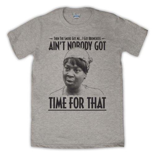 Sweet Brown Ain't Nobody Got Time For That Herren T-Shirt Grau