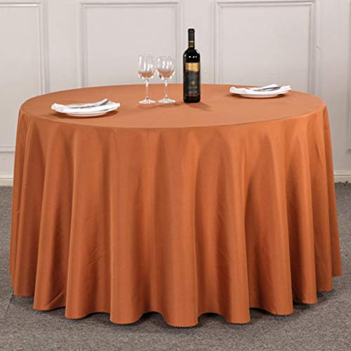 Sed tovaglia rotonda domestica, semplice tinta unita hotel restaurant tovaglia quadrata domestica tovaglia da picnic più spessa tovaglia tinta unita,round-220 centimetri,# 5