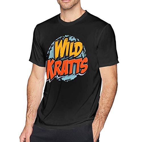 liuyang727000 Wild Kratts Men's Classic T-Shirt Black (Shirts Wild Kratts)