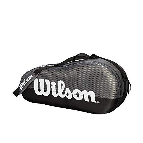 WILSON Unisex - Erwachsene Team 1 COMP Tennis Bag, Grey, 3 Rackets