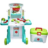 [Sponsored]Wembley Toys 3 In 1 Little Doctor Kids Play Set Portable Folding Work Bench Including Medical Box, Pretend Play Toys For Kids