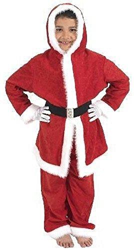 Jungen Mädchen Kinder mit Kapuze Santa Claus Anzug -