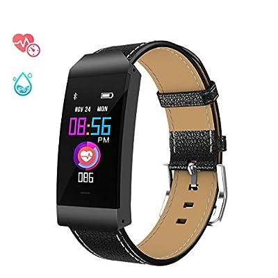 GOKOO Pulsera de Actividad, Pulsera Inteligente con Pulsómetro Pulsera Deportiva y Monitor de Ritmo Cardíaco Monitor de Actividad para Mujer Hombre Impermeable IP67 Compatible with iOS and Android