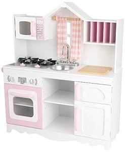 KidKraft- Cocina de juguete de madera moderna para niños , Color Multicolor (53222)
