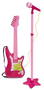 Bontempi IGirl 24.5 x 6 x 75cm Electric Guitar with Stand Microphone Dim