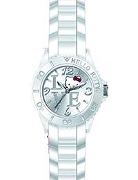 Hello Kitty - 4425001 - Montre Fille - Quartz Analogique - Cadran Blanc - Bracelet Silicone Blanc