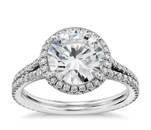 2.5Ct. Echter Diamant-Verlobungsring Zertifiziert Verbessert Diamant G/SI1 Runde Schnitt (Echter Diamant Ringe Für Damen)