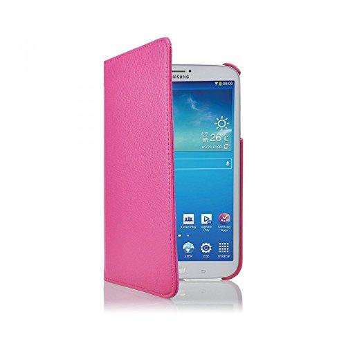 COOVY® Cover für Samsung Galaxy TAB 3 8.0 SM-T3100 SM-T3110 SM-T3150 SM-T310 SM-T311 SM-T315 ROTATION 360° SMART HÜLLE TASCHE ETUI CASE SCHUTZ STÄNDER | Farbe hotpink