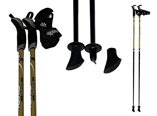 exel Nordic Walking Stock Black Poison gold Gr.105