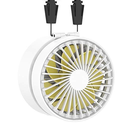 EasyAcc Super-Mini ventilatore portatile Lanyard Ventilatore 2600mAh Ventolatore ricaricabile a batteria Ventilatore palmare Mini ventilatore pieghevole USB con 3 velocità regolabili Adatto per attiv