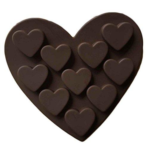 Fangfeen Romantisches Liebes Silikon Formen Liebes-Form Kleine Herz-Kuchen-Form Silikagel-Schokolade-EIS-Behälter-EIS-Form