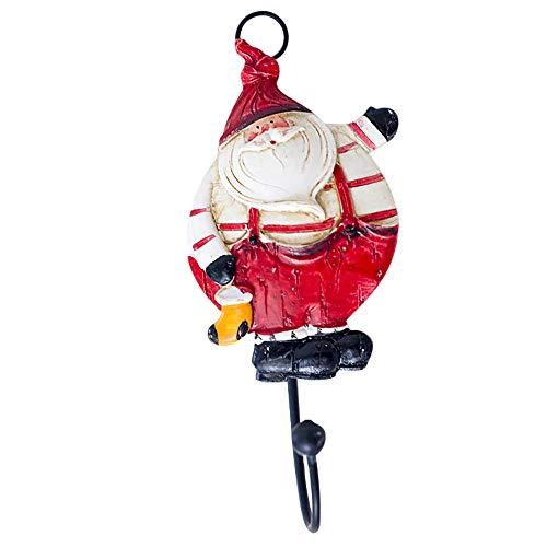 Elecenty Haken Hooks Wandhaken Home Fashion Santa Claus Keramik Harz Duschvorhang Haken Weihnachten Kreative Wandhalter (Keramik-backsplash)