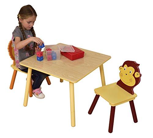 Butterfly-tisch-stuhl-set (Liberty House Toys Jungle Tisch und zwei Stuhl Set, Holz, mehrfarbig)