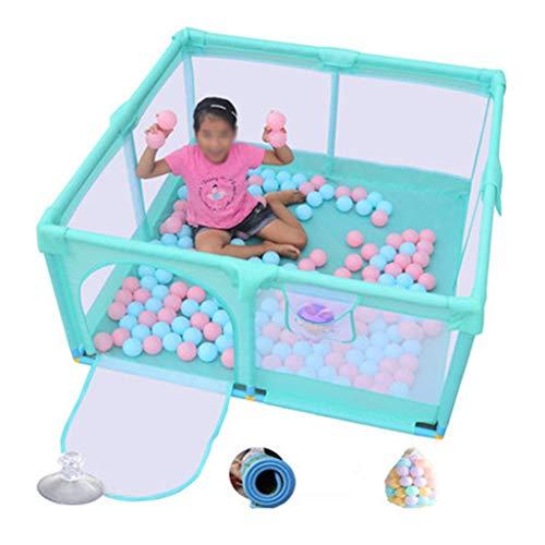 Laufgitter laufstall Baby-Laufgitter-Sicherheitszaun 8 Panel Kids Activity Center-Zimmer ausgestattet Fußmatten mit 100 Ocean Ball für Kleinkinder/Neugeborene/Kleinkinder sicher krabbeln