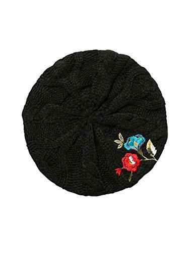 Desigual Damen Baskenmütze HAT_Caribou, Schwarz (Negro 2000), One Size (Herstellergröße: U)