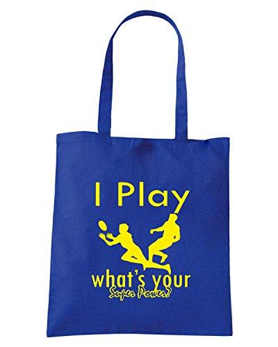 T-Shirtshock - Borsa Shopping OLDENG00805 i play logo Blu Royal
