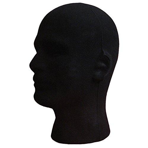 (Weißer Schaumstoffkopf, männlich, Kopf-Modell, für Perücken, Mützen, Hüte, Schaumstoff-Mannequin Styropor von Gemini _ Mall® )