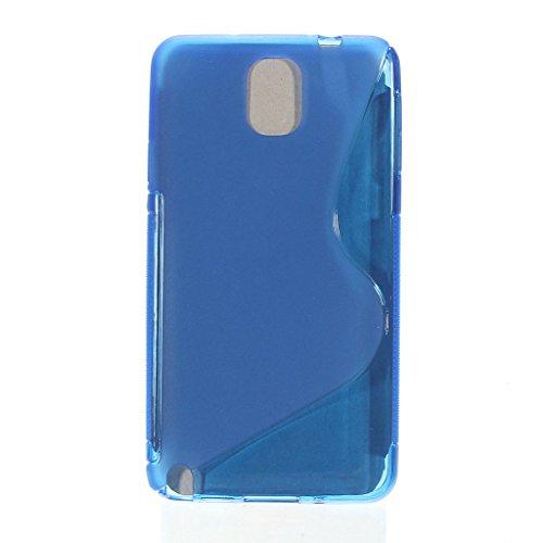 Bleu S Line Wave Coque arrière souple en gel TPU pour Samsung Galaxy Note 3Coque