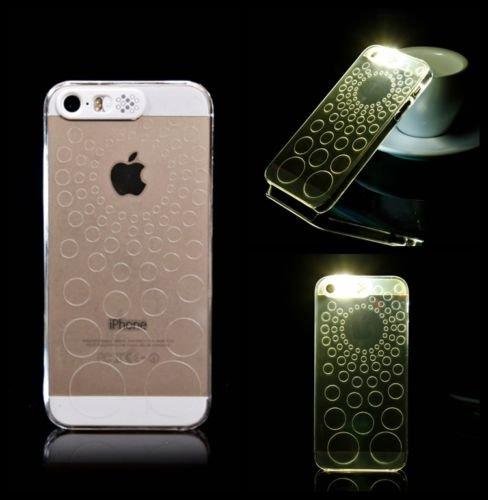 gemustert Blinklicht CLEAR HARD CASE für Apple iPhone 5/5S & 6/6S, DJ, APPLE IPHONE 5SE CIRCLER