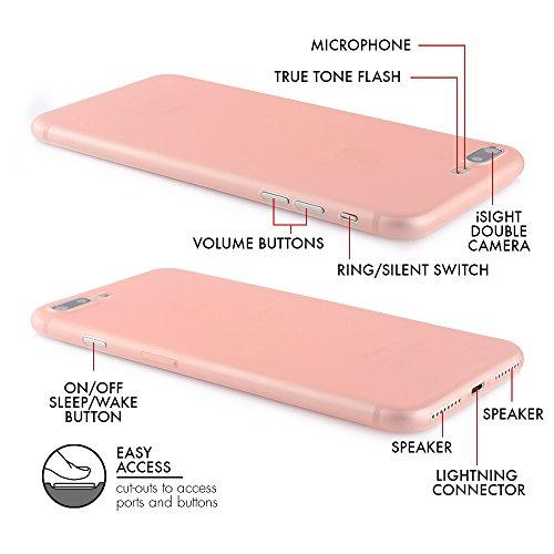 "QUADOCTA iPhone 6 (4,7"") Ultra Slim Case - Schutzhülle - ""Tenuis"" in Schwarz - Ultra dünne iPhone Hülle - Leicht transparentes Case Rosé"