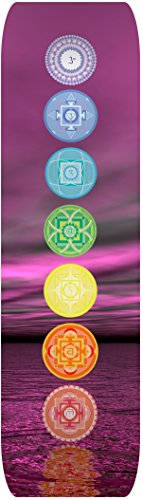PAPILLON High-RES Stampato Yoga Mat-Non Slip, Unisex, High-RES Printed, The Seven Chakras, L