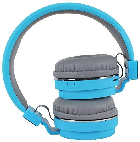 Morlivala SH12 Wireless Bluetooth Headphone for All Mobile with Mic with FM and SD Card Slot with Music and Calling Controls (Blue) Image 3