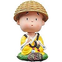 Vosarea Ornamento del salpicadero del Coche Que sacude la decoración de Escritorio Linda de la Oficina de Monk Toys