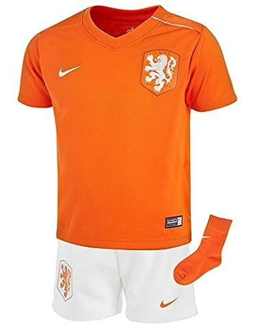 Nike Holland Away Mini kit 20143pièces Orange Blanc bébé Football
