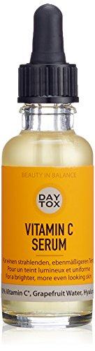 DAYTOX - Vitamin C Serum - Gesichtsserum mit Vitamin C Sofort-Effekt für frischen Glow - Vegan, ohne Farbstoffe, silikonfrei und parabenfrei - 1 x 30 ml - Vitamin C Detox