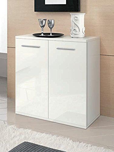 Valentini Meuble Rangement 2 Portes Nettuno cm 80 – Blanc laqué
