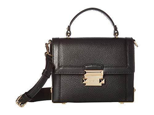 Michael Kors Damen Women Crossbody Bag Umhängetasche, Schwarz (Black), 6x15x19 cm
