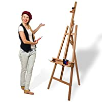 Artina Barcelona Tripod Studio Easel 2250 mm High Solid Beech-Wood 660 mm Wide Professional A-Frame Easel for Artists