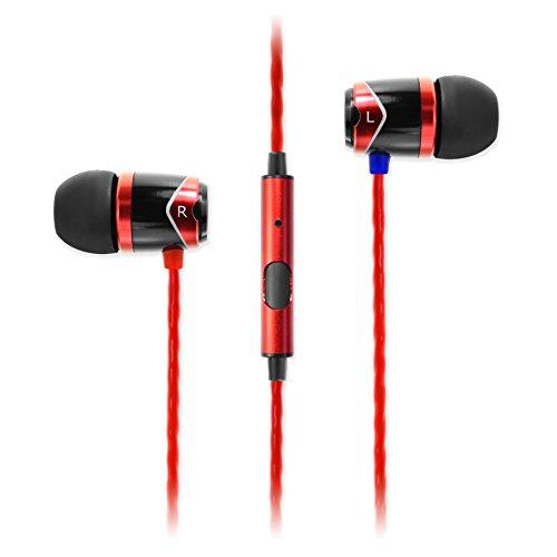 SoundMAGIC E10S - Auriculares (control remoto integrado), rojo