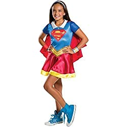 Niña Con cuello Supergirl Superman Superhéroe Comic Day Semana Disfraz De Halloween 3-10 años - 8-10 years