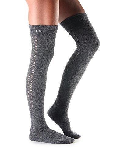 Tavi Noir Kris Kaschmir, über dem Knie Oberschenkel hohe Socken für den Alltag, Casual, STIEFEL, Mode Socken, damen, Fog (Kaschmir-knie-hohe Socken)