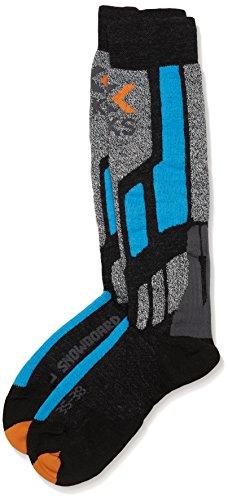 X-Socks Funktionssocken Snowboard, Anthracite/Azure, 42/44, X020361 (Snowboard Italienischer Wolle Socken)