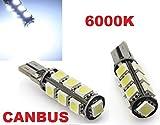 INION® 13er Xenon Look LED Standlicht, Lampen LED Soffiten Birnen mit INTENSIVE LEUCHTKRAFT T10, CanBus, Xenon Weiss ca.6000K 12V