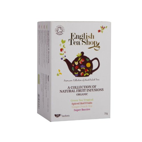 English Tea Shop - Früchte Tee Kollektion, BIO, 20 Teebeutel Tee-hibiscus Hagebutte