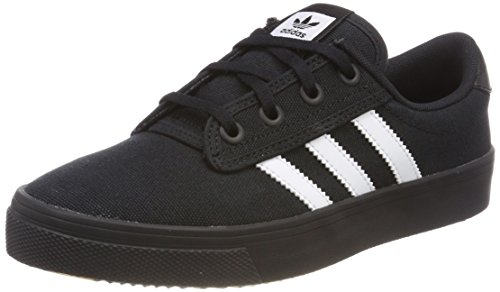 adidas Kiel, Baskets Mixte Adulte, Noir (Core Black/Footwear White/Core Black 0), 41 1/3 EU